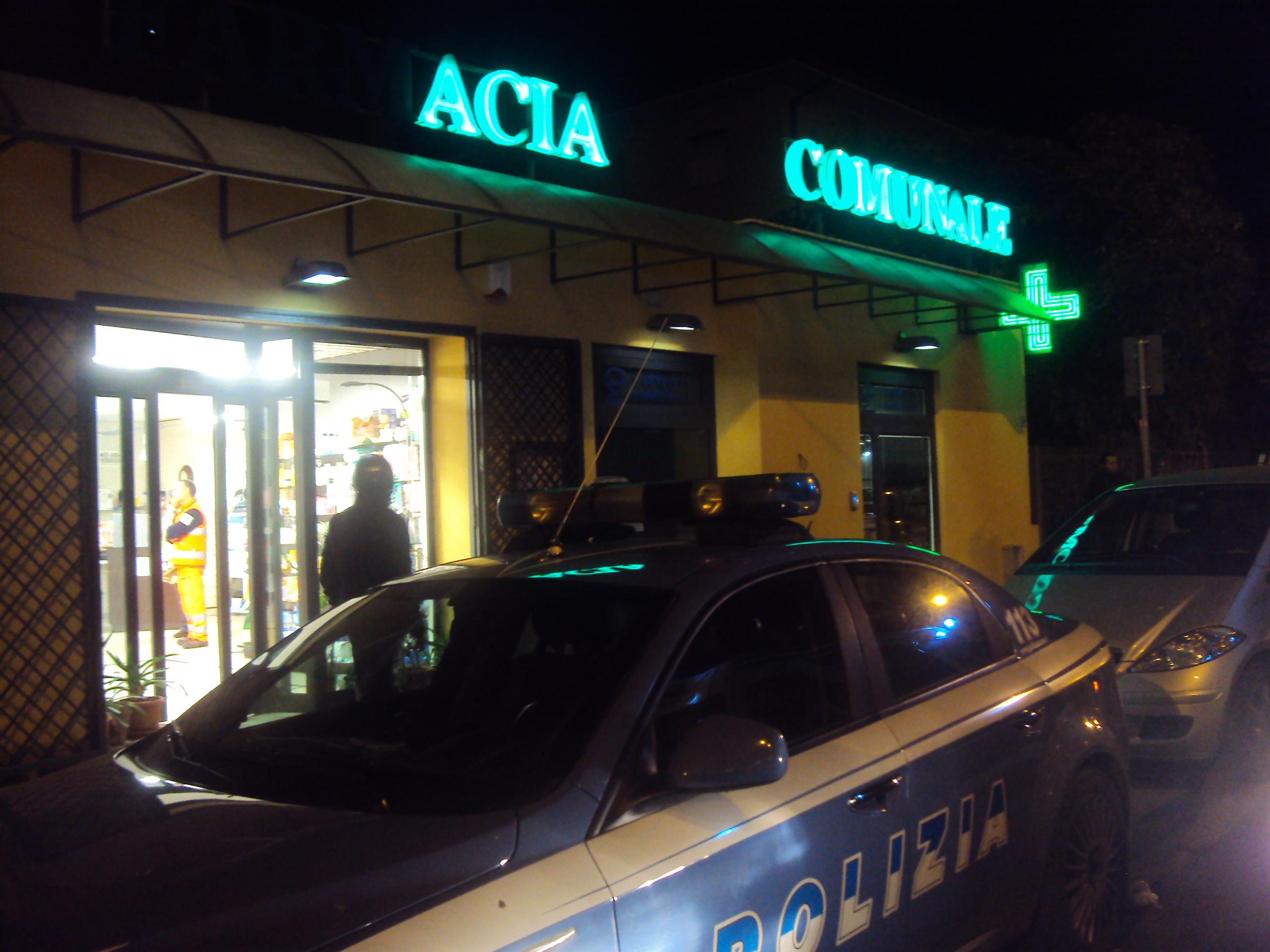 rapina farmacia comunale