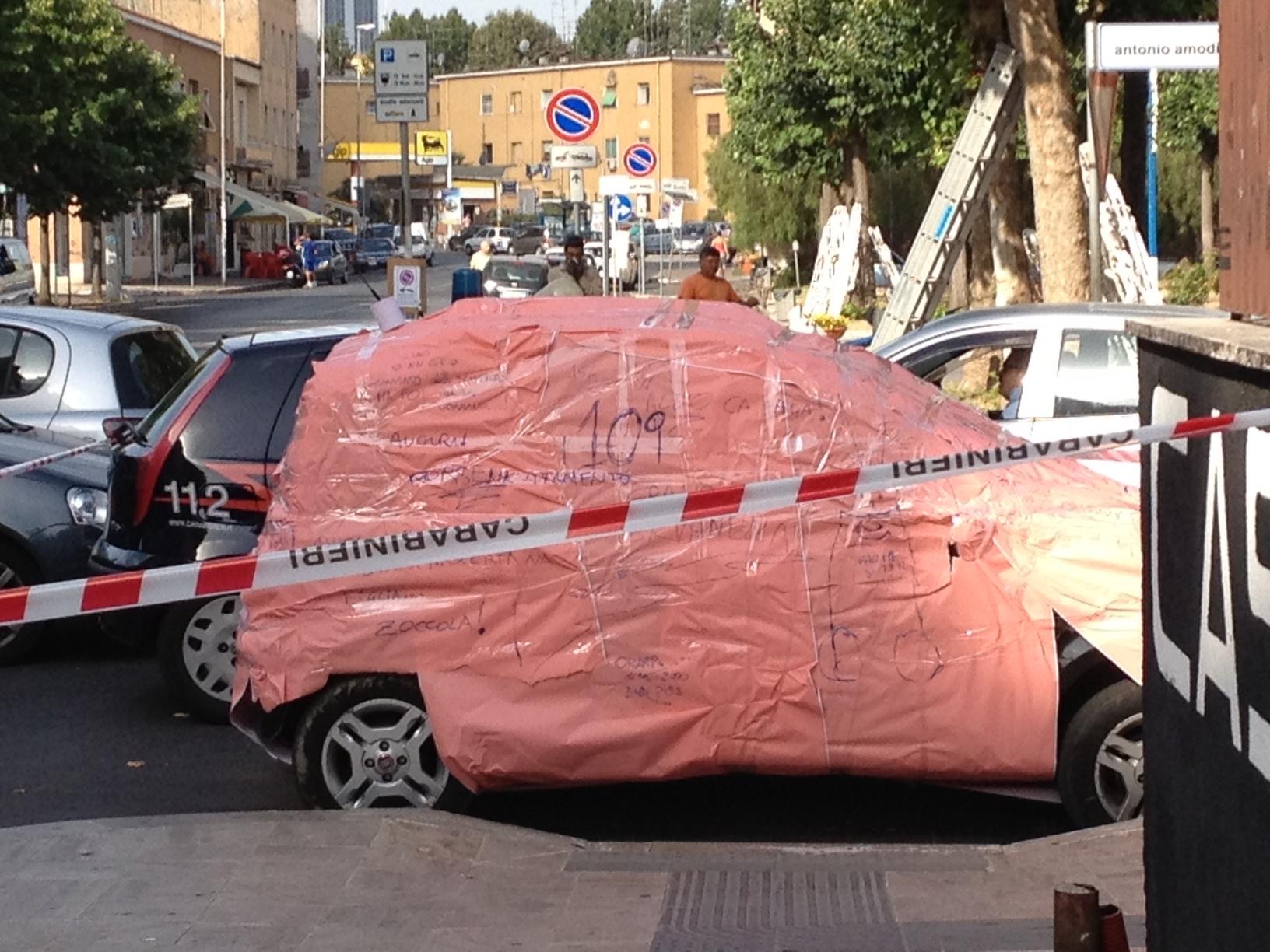 auto impacchettata