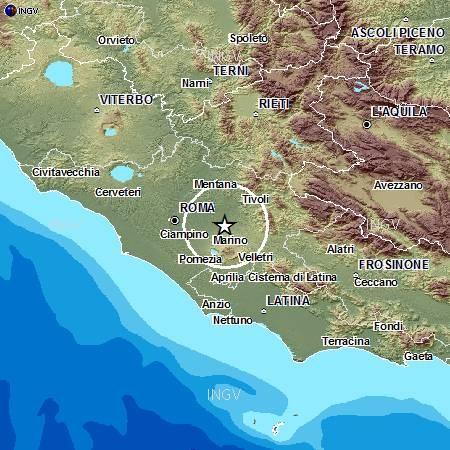 terremoto castelli romani