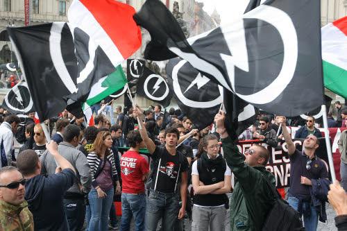 Manifestazione Casapound e Blocco Studentesco
