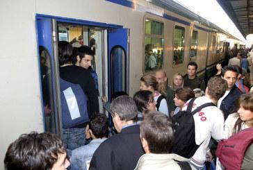 La neve blocca i treni nel Lazio