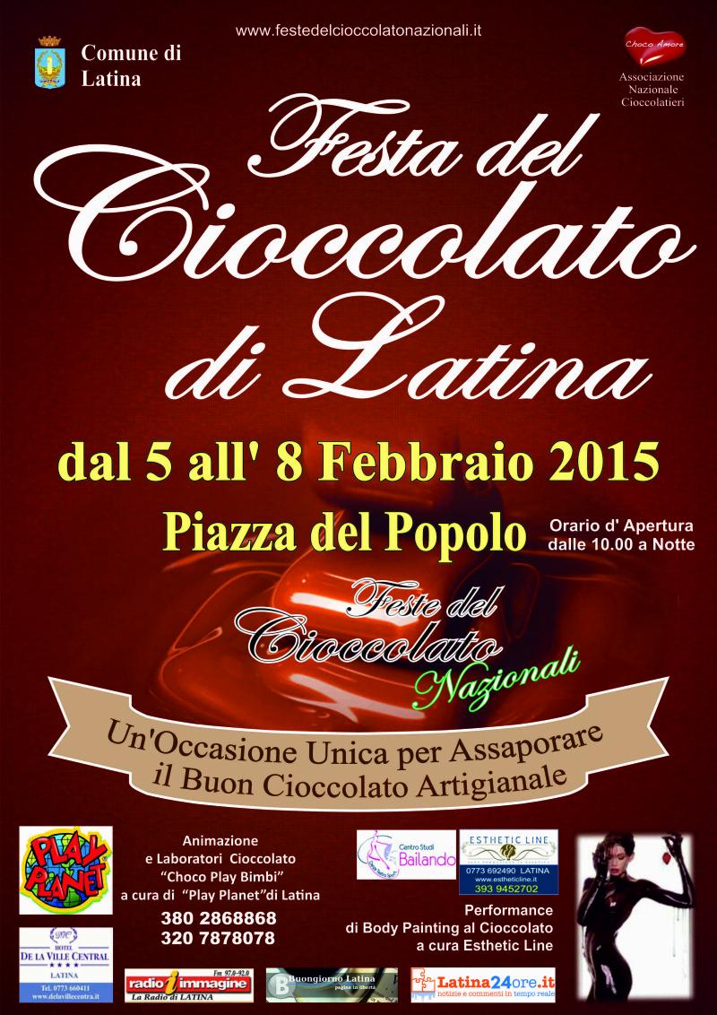 festa cioccolato latina locand 2015