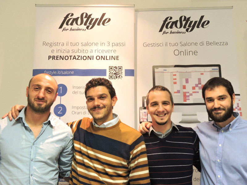 From letf to right Alessio Viola - Antonio Fabrizio - Daniele Palombo -  Christian Rimondi