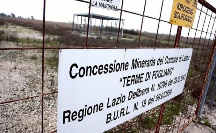Terme di Fogliano, cosa ha fatto la Regione Lazio? Interrogazione del M5S