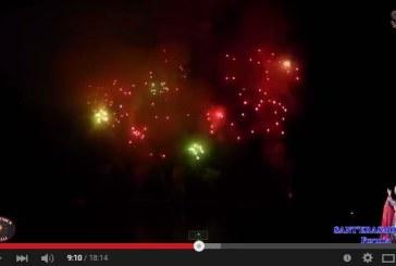 VIDEO Lo spettacolo dei fuochi d'artificio sul mare a Formia