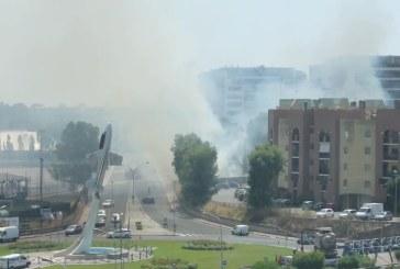 VIDEO Paura in viale Nervi, un incendio devasta l'area abbandonata alle sterpaglie