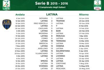 Serie B: Latina comincia a Novara poi Trapani in casa. Ecco il calendario completo