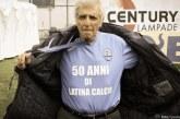 FOTO VIDEO Addio Ughetto, il primo tifoso del Latina Calcio. 50 anni in nerazzurro