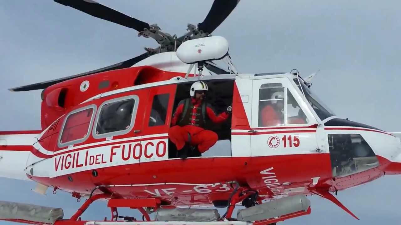 Elicottero Vigili Fuoco : Gruppo scout si perde sul monte redentore i vigili del