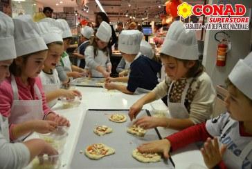 Sabaudia, al Conad i bambini imparano con uno Chef l'arte del pane e della pizza