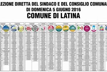 FOTO Elezioni a Latina, ecco il manifesto con tutti i nomi dei candidati