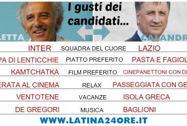 Elezioni a Latina, non solo politica. I gusti dei candidati a confronto