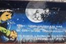FOTO Imbrattato il murale accanto al palazzo Key, tributo a un ragazzo morto a 19 anni