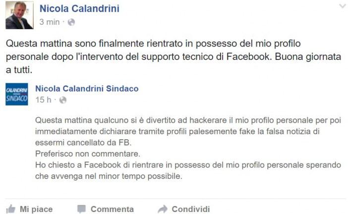 """Latina, Nicola Calandrini: """"Violato il mio profilo Facebook"""""""