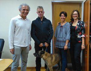 Il sindaco incontra Vasco, il cane di Latina che ha salvato tante vite ad Amatrice