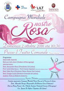 Nastro Rosa, a Roccagorga si apre la campagna di sensibilizzazione della Lilt