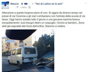 Psicosi (e leggende) galoppano su Facebook: Attenzione al furgone pieno di rom accanto alla scuola!