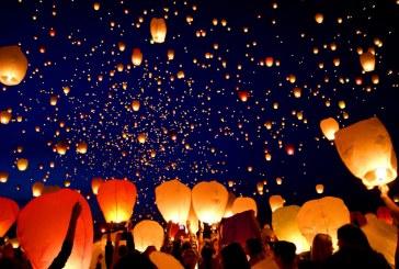 Cimitero di Latina, lanterne in cielo per ricordare chi non c'è più