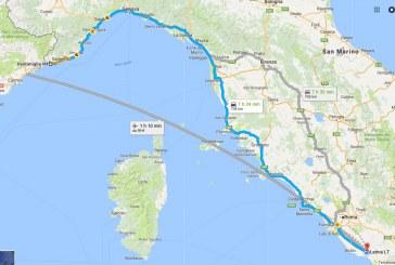 Una pista ciclabile da Ventimiglia a Latina, ecco il progetto
