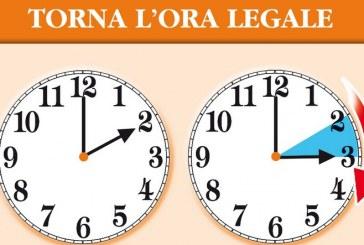 Torna l'ora legale: lancette in avanti di 60 minuti