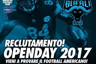 I Bufali Latina organizzano un open day per provare il Football Americano alla Samagor