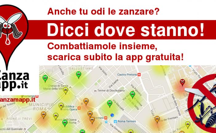 La Sapienza realizza un'app per segnalare la zanzara tigre (e non solo)
