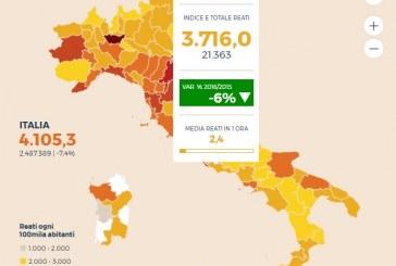 Latina, reati in calo: 3.716 ogni 100.000 abitanti. Ecco tutti i dati
