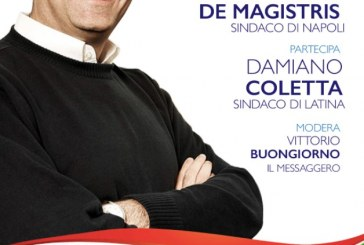 Latina, Coletta accoglie il sindaco di Napoli Luigi De Magistris