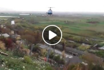 VIDEO Un elicottero per i lavori alla centrale idrica delle Sardellane