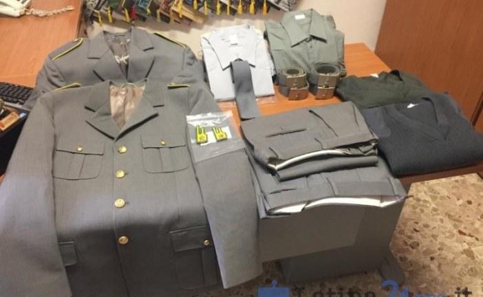 Guardia di Finanza sequestra un'uniforme del corpo venduta sul web