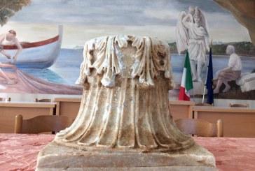 VIDEO  A Sperlonga recuperato uno straordinario capitello corinzio