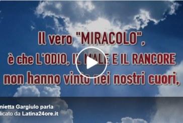 VIDEO Strage di Cisterna, il messaggio di Antonietta Gargiulo: L'odio non ha vinto