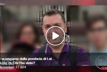 VIDEO Latina, appello per la scomparsa di Vito Caroli