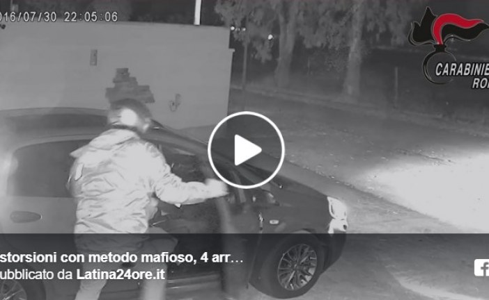 VIDEO FOTO Estorsioni mafiose e spari, quattro arresti tra Latina e Roma