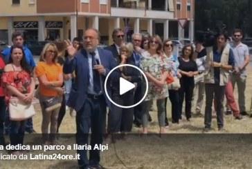 VIDEO Un parco per Ilaria Alpi, il presidente della Fnsi: Grazie Latina, è un gesto meraviglioso