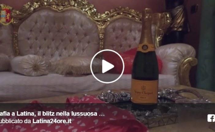 VIDEO Il blitz della polizia nella lussuosa villa dei Di Silvio a Latina