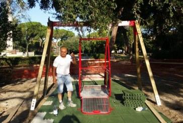 Al parco Falcone Borsellino arriva un'altalena per disabili