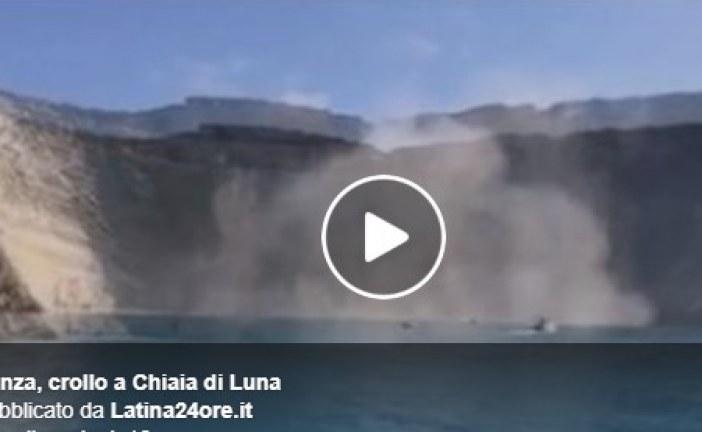 VIDEO Crollo a Chiaia di Luna a Ponza, salvi tre turisti