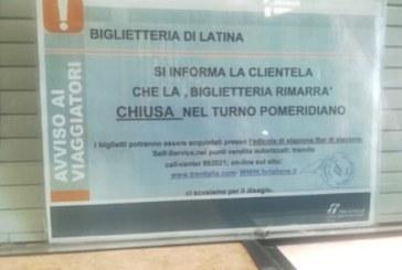 Codacons di Latina: Assurdo chiudere la biglietteria della stazione nel pomeriggio