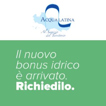 Acqualatina, bonus idrico
