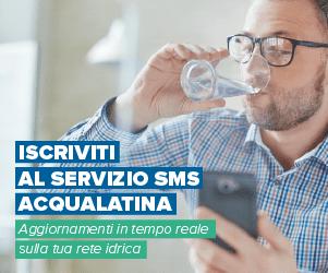 Acqualatina, servizio SMS