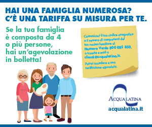 Acqualatina, tariffa famiglia (sidebar)